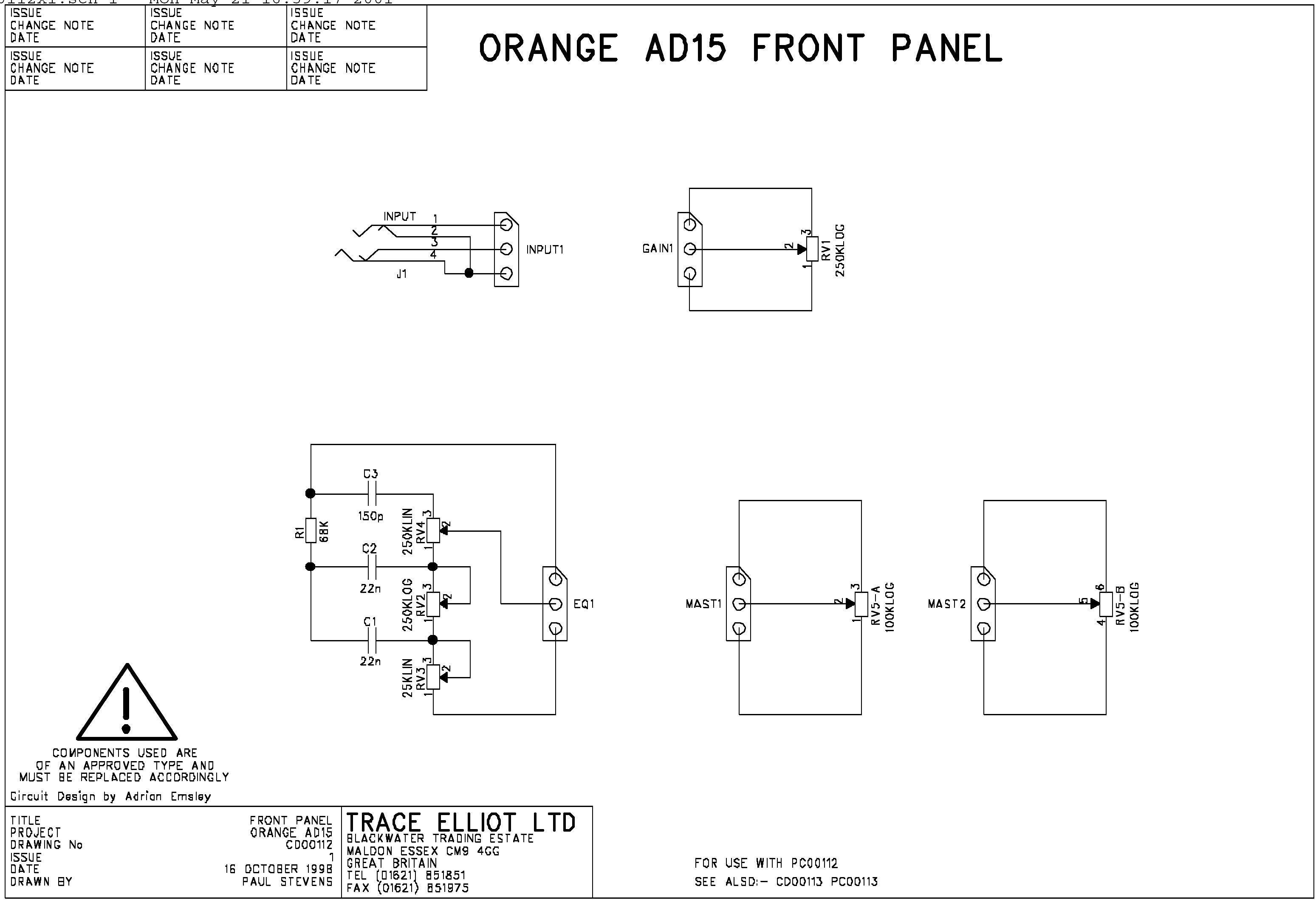 the orange amp mods page rh orangefieldguide com Speaker Orange Images Rockaverb Orange OR15H Stack