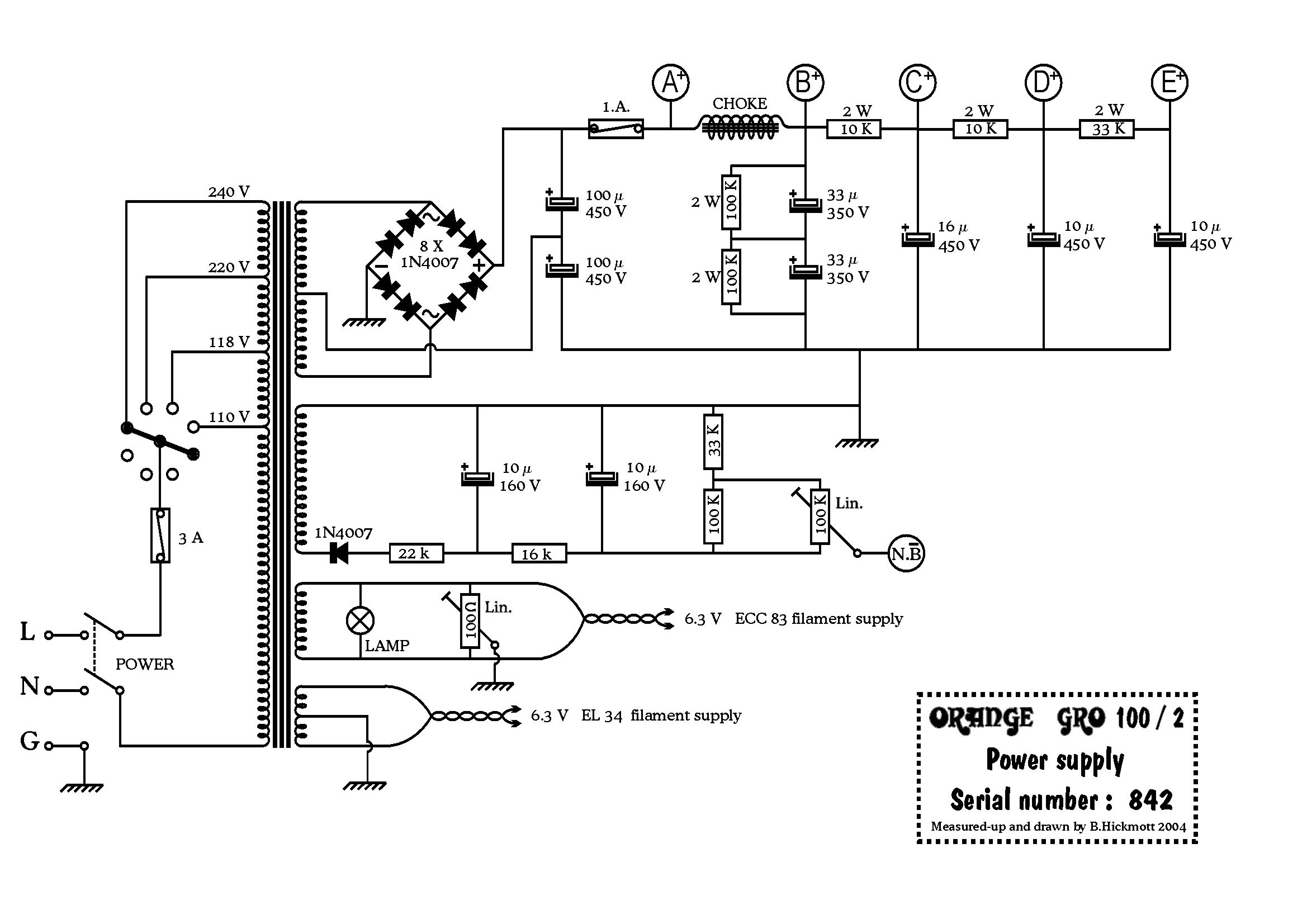 or120  u0026 39 72 power supply