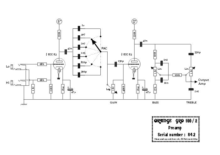 Orange   Wiring Diagram in addition TubeGuitar Designs further T38966 as well TubeGuitar Designs moreover Screen Grid Resistor. on triode electronics 5e3 schematic