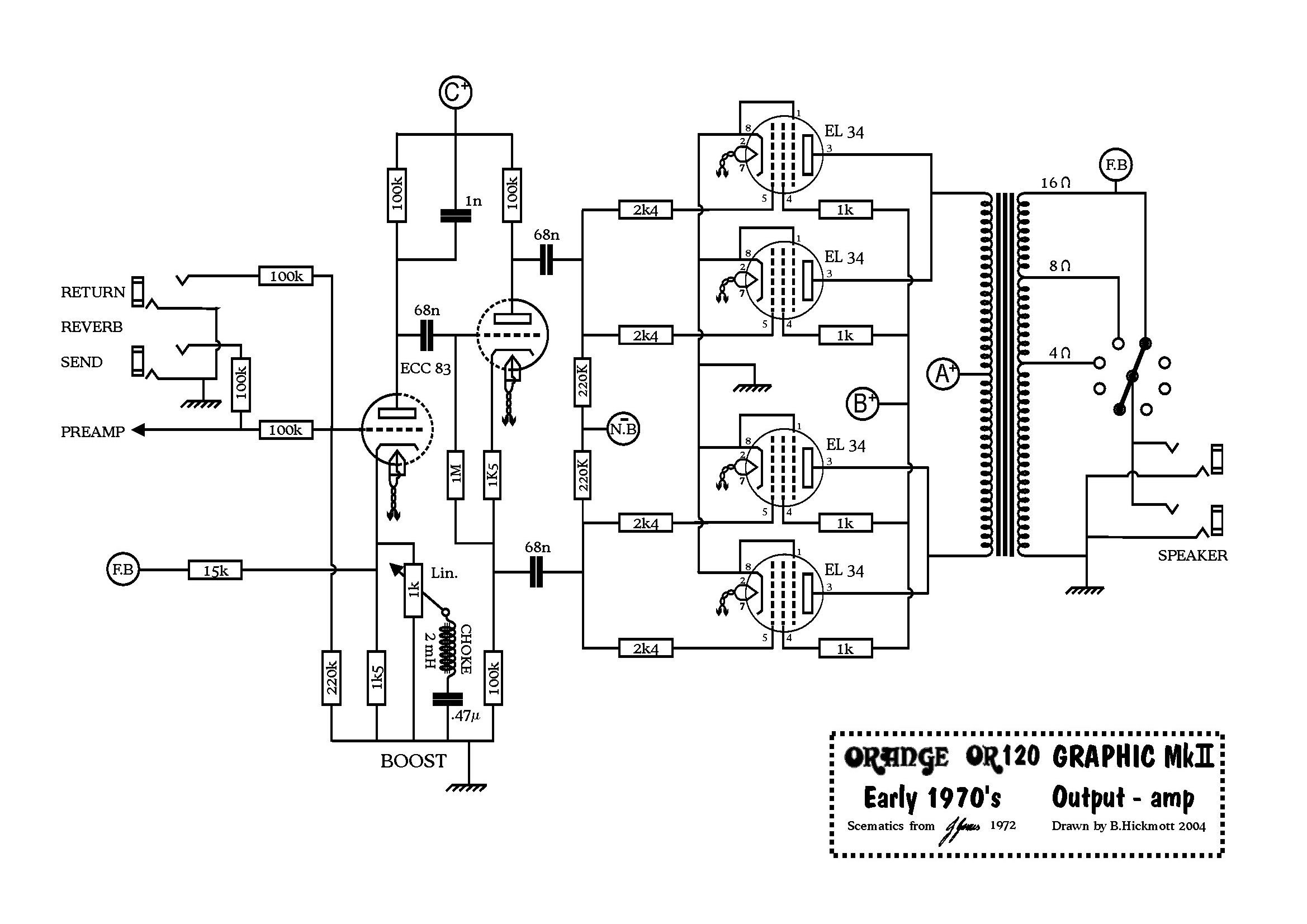 Orange mods on tube amp schematics