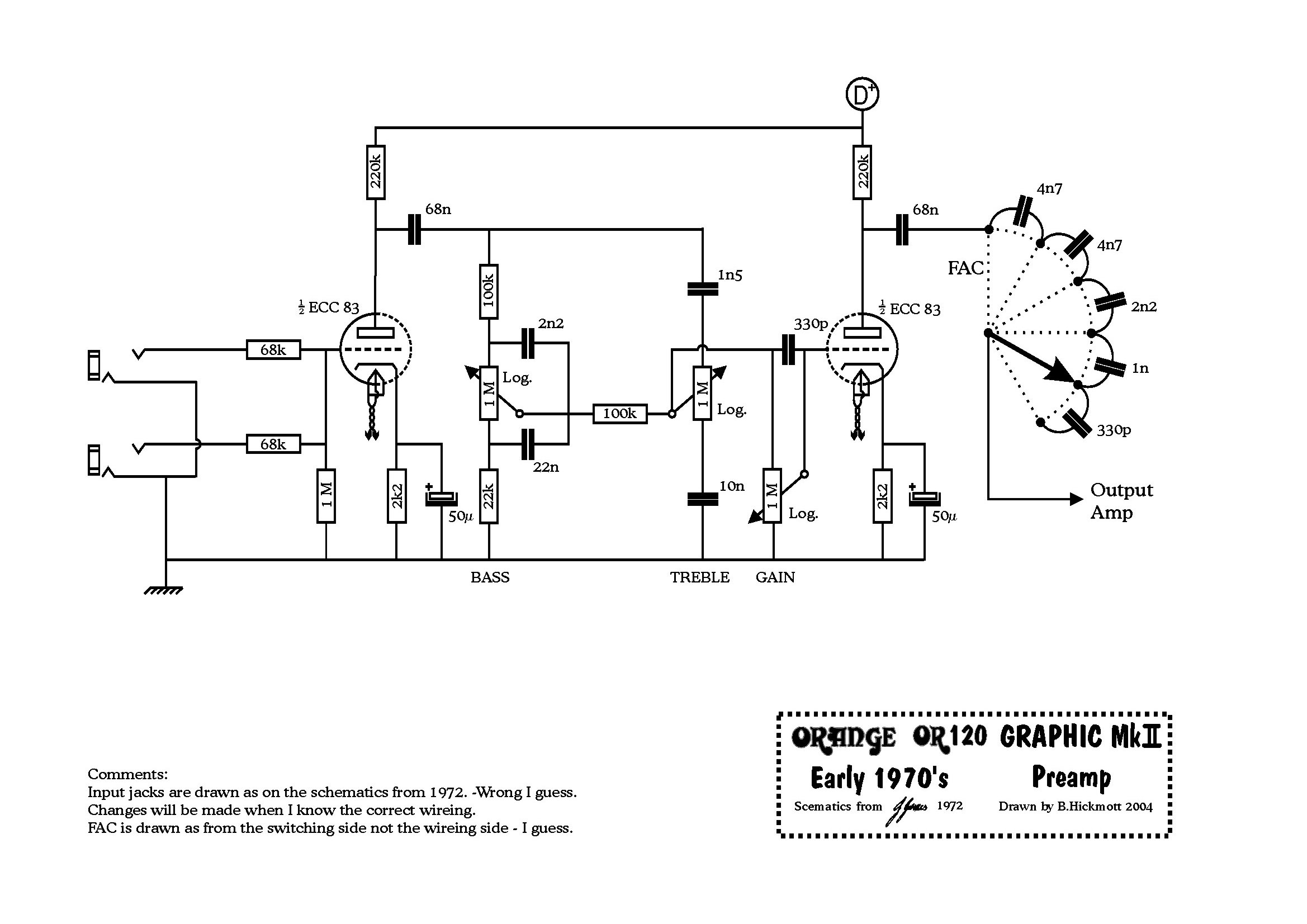 The Orange Amp Mods Page Vacuum Tube Schematics Related Keywords Suggestions Or120 72 Preamp