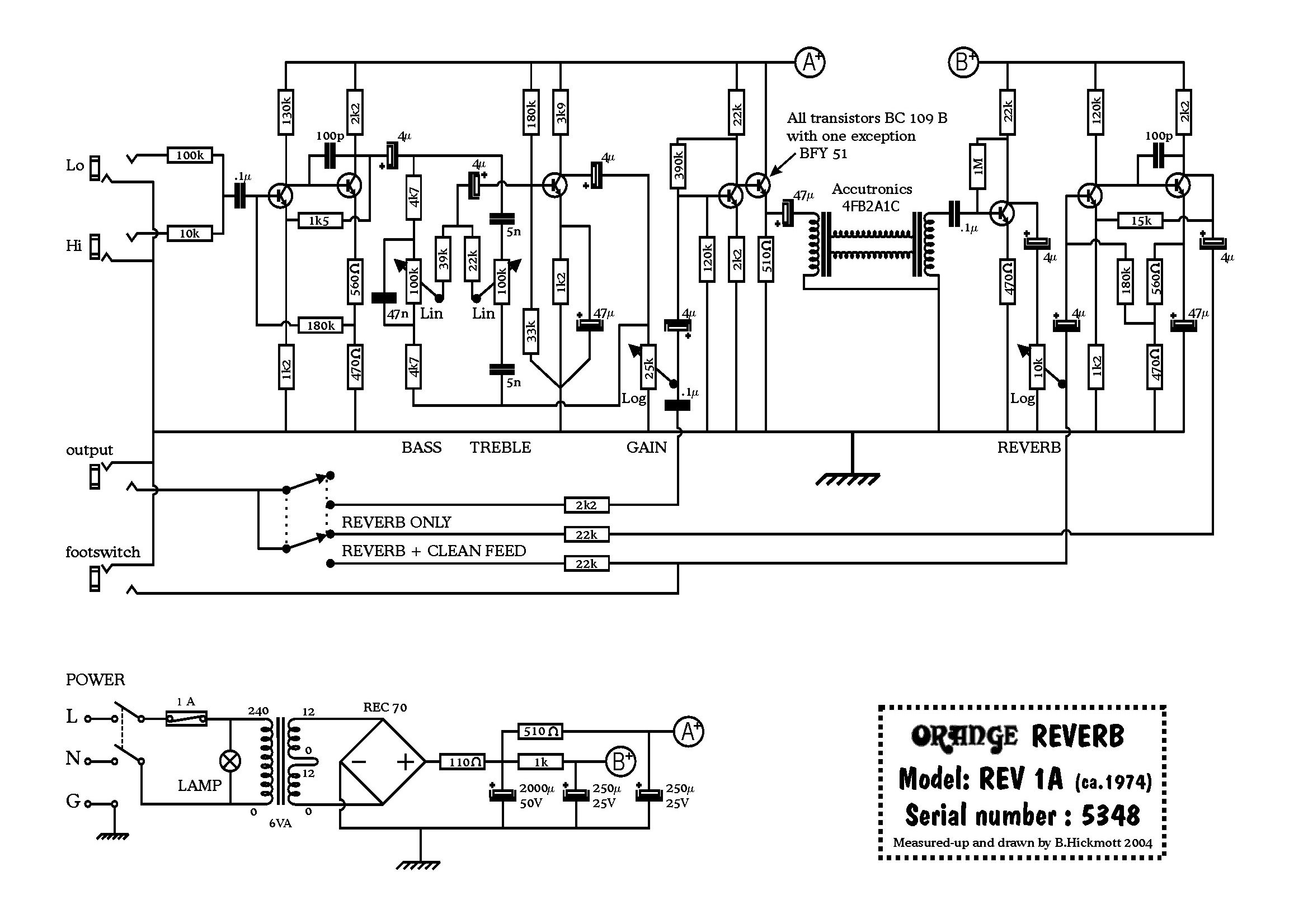 Orange Amp Field Guide schematics